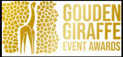 Gouden giraffe logo