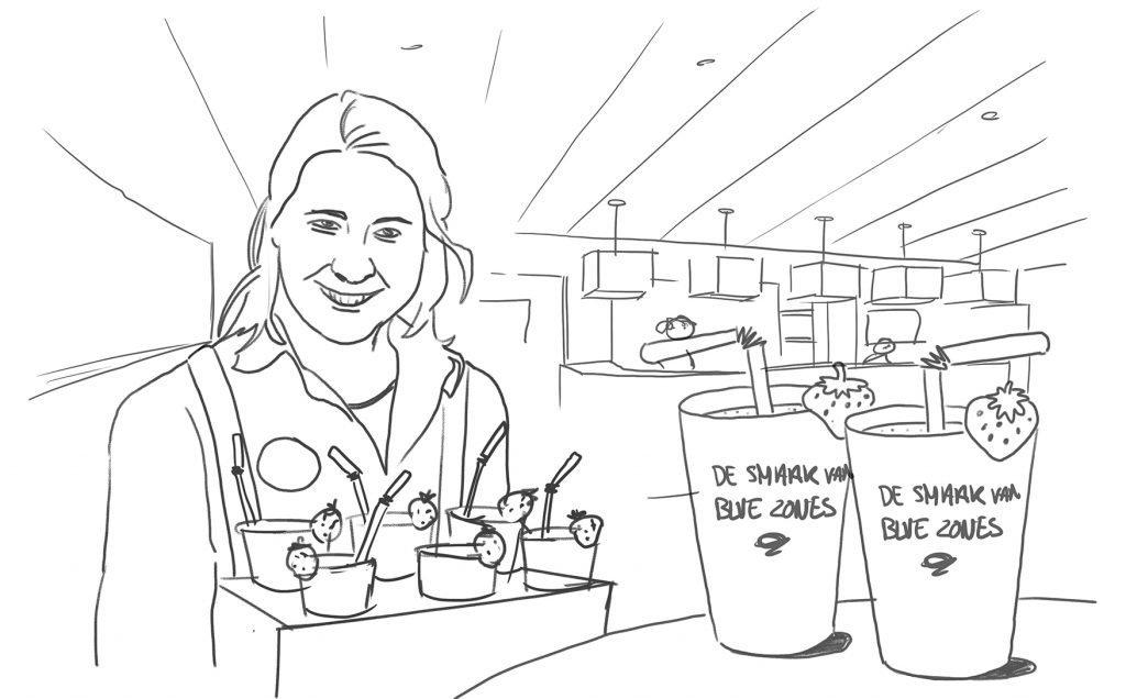 vgz blue zones smoothiebar tekening