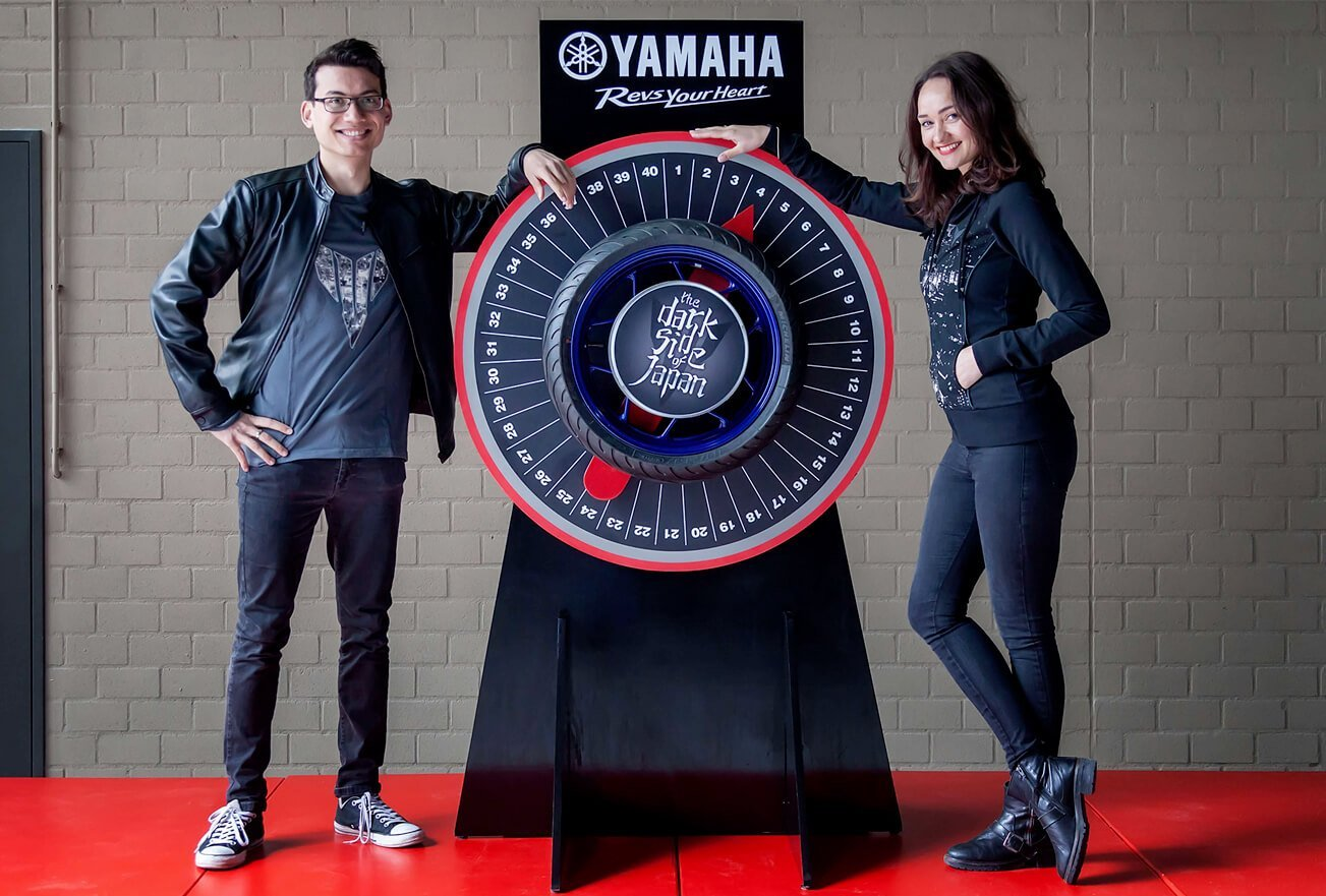 Yamaha Wheel of Torque, een merkactivatie ontwikkeld door brandXtension