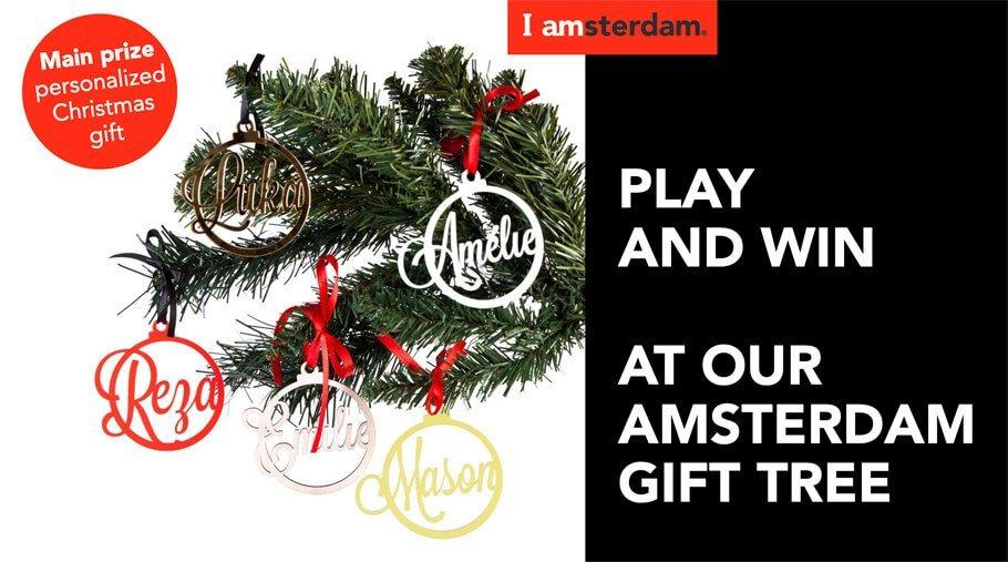 Amsterdam Gift tree welke is ontwikkeld door communicatiebureau brandXtension