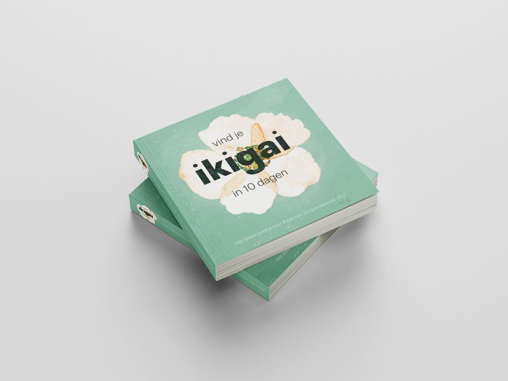 Vind je IKIGAI in 10 dagen boekje, ontwikkeld door VGZ in samenwerking met communicatiebureau brandXtension