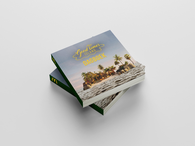 McDonald's Good Times Island dagboek ontworpen door communicatie en marketing bureau brandXtension