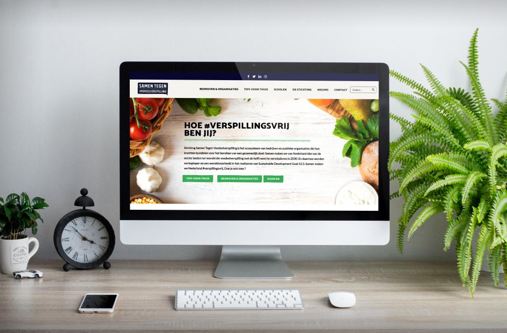 website van samen tegen voedselverspilling die is ontworpen door communicatiebureau brandxtension