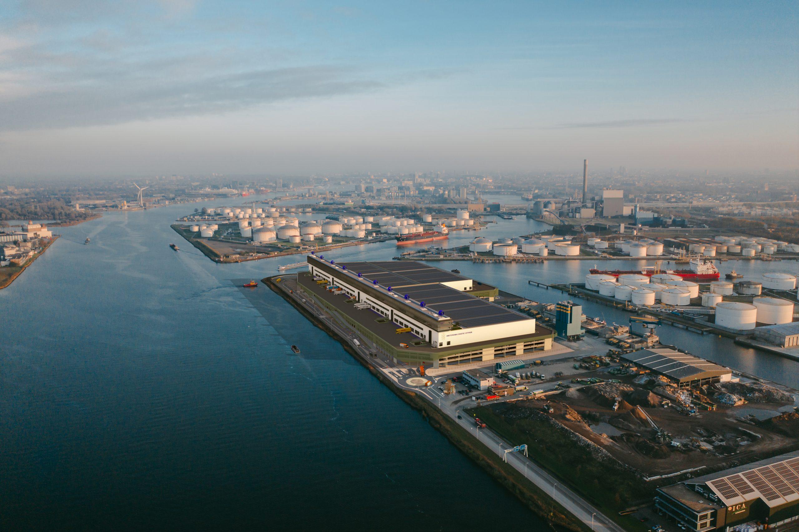 Project van Amsterdam Logistic Cityhub waar brandXtension aan mee werkt