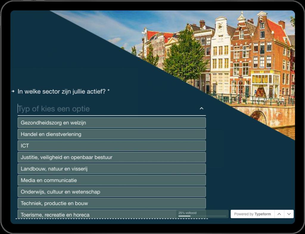 interactieve website ontworpen door brandXtension voor Amsterdam Logistic cityhub