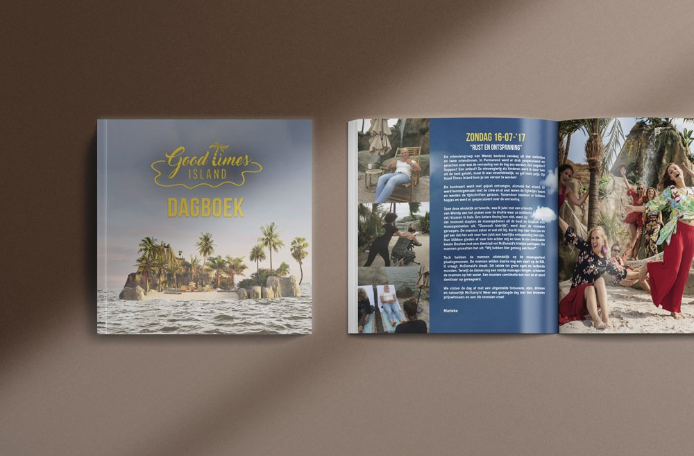 Good Times Island dagboek door brandXtension