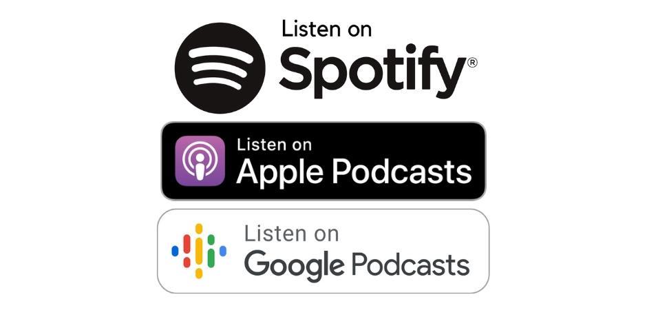 Logo's van podcast platforms