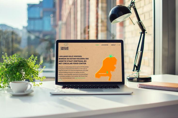 Website Circular Food Center, ontwikkeld door brandXtension